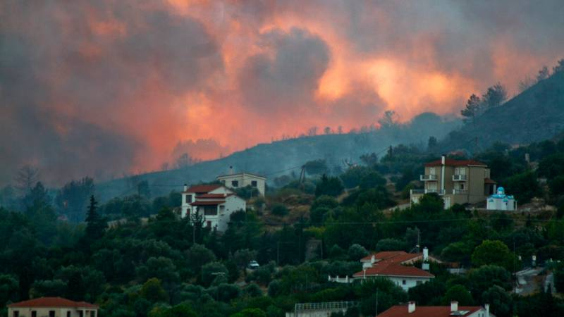 Hundreds Of Holidaymakers Evacuated After Wildfires Rage In Greece