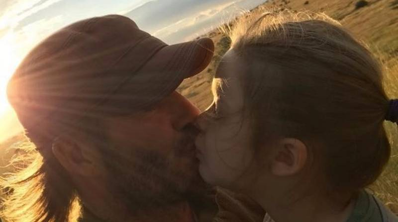 David Beckham Posts Photo Kissing Daughter On Lips And People Are Kicking Off