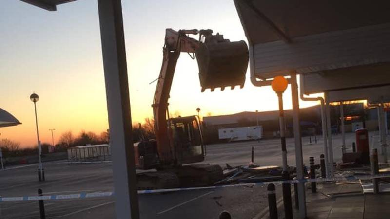 Thieves Use Digger To Steal Cash Machines From Tesco In Dover