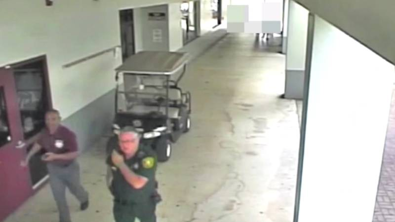Footage Released Of Deputy Branded A 'Coward' For Not Entering Parkland School