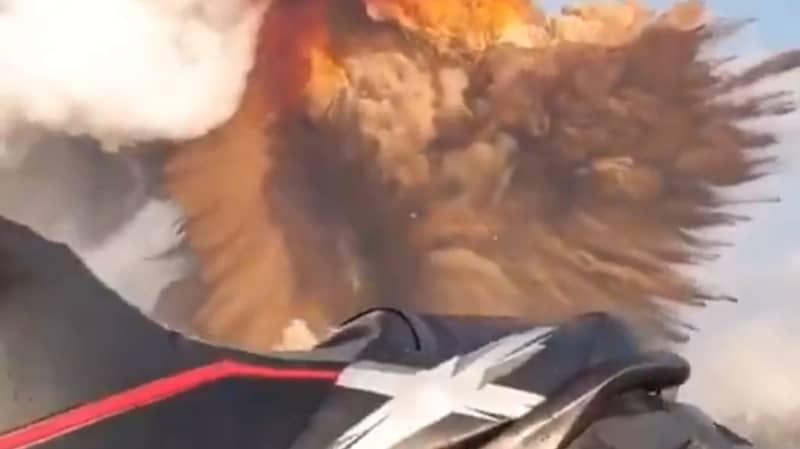 Jet Skier Captures Terrifying Footage Of Beirut Explosion
