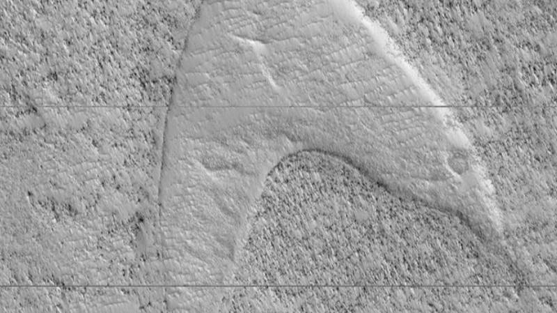 NASA Shares Photo Of Mars Dune Which Looks Like Star Trek Symbol