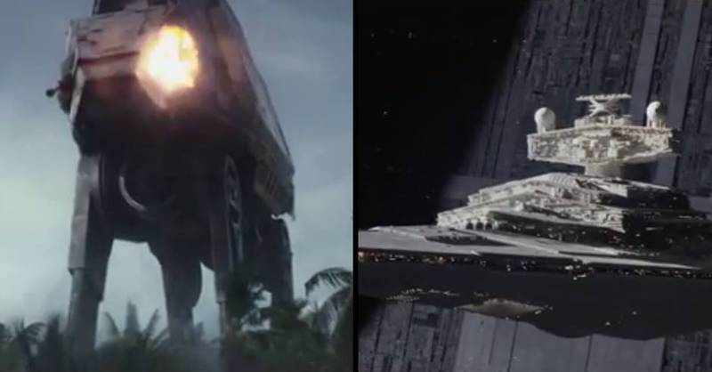 The New Trailer For 'Rogue One: A Star Wars Story' Looks Sick
