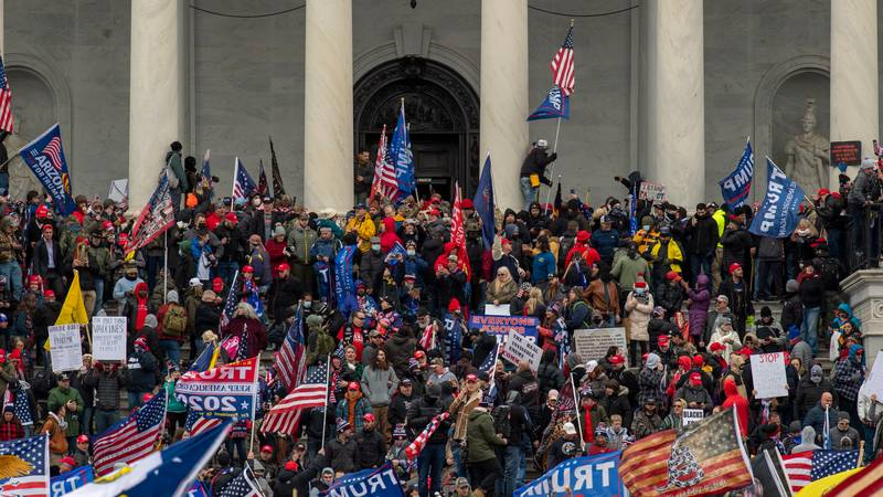 National Guard Called As Trump Supporters Storm Washington's Capitol Building