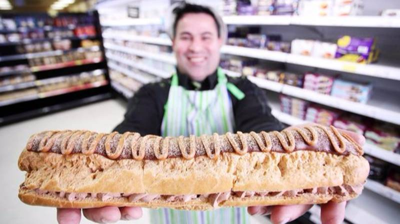 Asda Is Selling A Massive Foot-Long Chocolate Eclair For Christmas