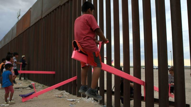 See-Saw Through Border Wall Between USA And Mexico Wins Design Award