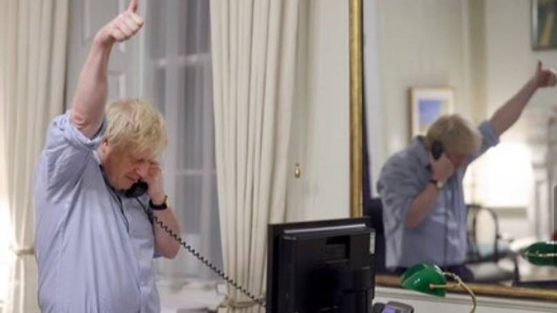 Social Media Users Confused By Boris Johnson's Reflection